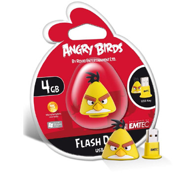 USB4GB EMT BIRD AMARILLO